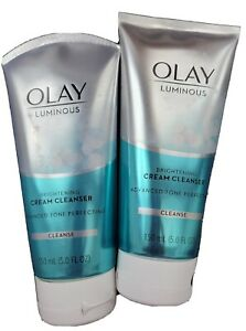 2x OLAY LUMINOUS BRIGHTENING CREAM CLEANSER ADVANCE TONE PERFECTION CLEANSE 5OZ