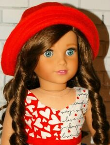 Handmade fits American Girl Doll Clothes ~Saint Valentine's Day Outfit ~