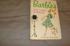 Barbie'S New York Summer Hardcover Book Mattel '58, Random House '62 Lawrence Vg
