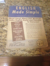 English Made Simple SC Book, Arthur Waldhorn PHD/ Arthur Zeigler PHD  1955