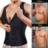 Men's Waist Trainer Vest Weight Loss Sauna Hot Neoprene Body Shaper Tank Top US