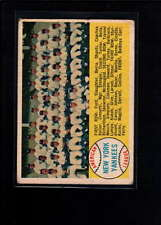 1958 TOPPS  #246 NEW YORK YANKEES VG F3634