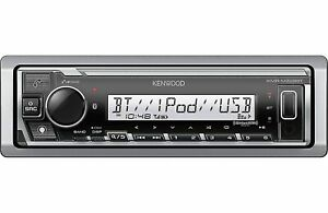 Kenwood KMR-M328BT Marine AM/FM Boat Stereo with Bluetooth USB/ AUX Port Spotify