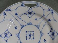 Teller Plätzchenteller Porzellan blau weiß Schale Griff Strohblume Indisch blau