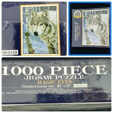 """NEW Magic Eyes Wolf Puzzle GOLD SEAL BITS & PIECES 1000 Piece Puzzle 20"""" x 27"""""""
