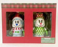 "DISNEY VINYLMATION 3"" HOLIDAY CHRISTMAS 2014 MICKEY MINNIE MOUSE SNOWMAN SET NIB"