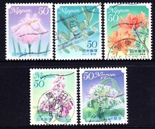 Japan 2010 50y Hometown Flowers No8 set of 5 Fine Used