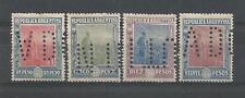 Argentina - Correo 1912 Yvert 189 à 192 Neufs * cote 320€