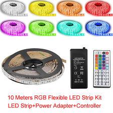 SUPERNIGHT® 10M 600Leds RGB 5050 LED Strip Light Waterproof +Power+44Keys Remote