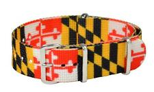 20mm CLASSIC Nato SS Nylon MARYLAND FLAG  REPLACEMENT Watch Strap Band