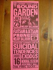 '91 SOUNDGARDEN , ALICE IN CHAINS, SUICIDAL TENDENCIES , PRONG Multi Show Flyer