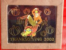 HRC Hard Rock Cafe Online Thanks Giving 2002 Set Pin in Box LE OVP NWT