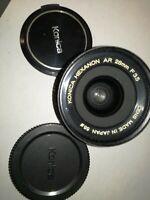 KONICA HEXANON AR 28mm F 3.5 LENS  MADE JAPAN 55