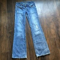 American Eagle Women's Jeans Size 0 Reg Distressed Straight Leg RN54485 CA03873