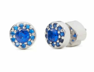 kate spade new york Something Sparkly Pave stud earrings Sapphire