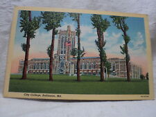 BALTIMORE MD Maryland City College Vintage view Postcard