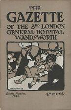 WW1 Magazine Gazette of 3rd London General Hospital Wandsworth Easter 1918