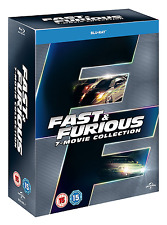 Fast and Furious: Complete Movies 1 2 3 4 5 6 & 7 Boxed BluRay Set [Region Free]