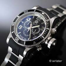 Invicta Russian Diver Signature Swiss Pts Chronograph Black Poly 52mm Mens Watch