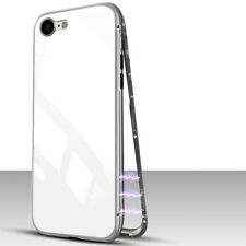 Magnetic Adsorption Metal Bumper Case Temper Glass Cover For Phone X 6 7 8 Plus