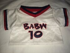Build a Bear 'Babw 10' White/Red/Navy Blue Uniform Soccer Top