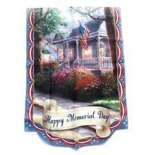 Thomas Kinkade Year of Glad Tidings Flag Collection Happy Memorial Day Coa