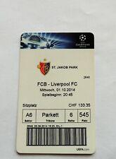 FC Basel vs Liverpool F.C. ticket Champions League 2014