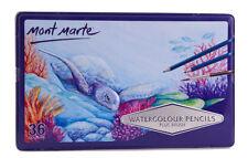Mont Marte Watercolour Pencils 36 Colours in Metal Tin
