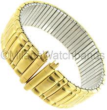18-22mm Speidel Straight End Twist-O-Flex Gold Tone GP Metal Watch Band 1580/37L