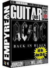 AC/DC Back In Black Guitar Tabs CD-R Digital Lessons Software Windows Mac