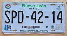 """COLORFUL MEXICO AUTO GRAPHIC  NUEVO LEON  LICENSE PLATE """" SPD 42 14 """"  NL  MEX"""