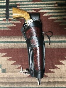 black powder holster 6 inch barrell 36 or 44 calliber navy right hand cross draw
