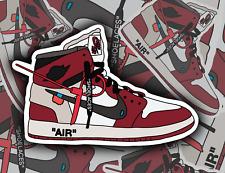 Nike Jordan Retro High Off-White Chicago Red sneakers, Vinyl Sticker