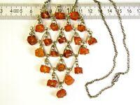 Old vintage Baltic Amber stone pendant necklace 16gr natural genuine unique 3480