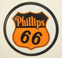 "Phillips 66 Gas Oil 12"" Round Vintage Style Metal Signs Man Cave Garage Decor 69"
