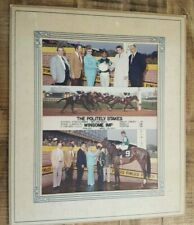 "VINTAGE ""Winner's Circle"" Horse Racing Photo - Apr 23, 1963 ""WINSOME IMP"" Color"