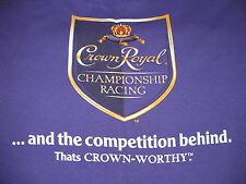 Crown Royal Whiskey Shirt Championship Racing Brickyard Mens XL