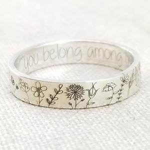 Handmade, Genuine Silver 'Wildflowers' Ring // Friendship 925 Sterling
