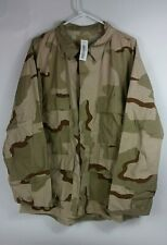 Large 3 color desert camo genuine military issued coat shirt 4 pocket uniform