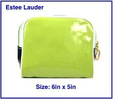 ESTEE LAUDER Green Blue & White Small Cosmetic Bag Makeup Case 6in x 5in - New