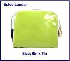 ESTEE Lauder Verde Blu & Bianco Piccolo Borsa Cosmetica Beauty Case 6in x 5in-NUOVO