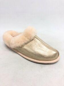 UGG Women's Moraene Iridescent Slippers House Shoes Gold 1112505