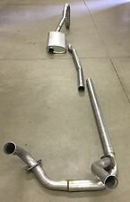 1968-1969 CADILLAC DEVILLE SINGLE EXHAUST SYSTEM, ALUMINIZED WITH RESONATOR