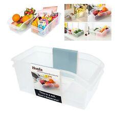 2 Pcs Freezer Bins Refrigerator Organizer Trays Large Plastic Fridge Container