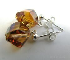 Stud Earrings Made With Swarovski Crystal Copper & Solid Sterling Silver