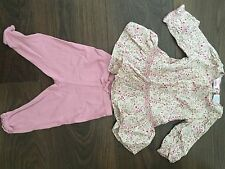 Baby Gap Girls Floral Top And Leggings Set 3-6mths