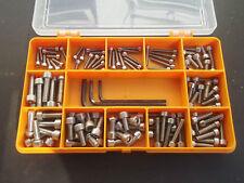120 M3, M4 y M5 Allen Socket Tapa Tornillos. A2 Acero Inoxidable. Llaves Incluidas