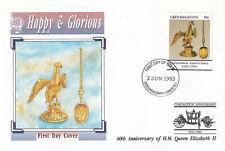 (29288) Grenada Grenadines FDC Queen Coronation 40 years 2003