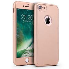 Für iPhone 7/ 8/ X/ 6/ 5 Full Cover TPU 360 Grad Handy Schutz Hülle Bumper Case
