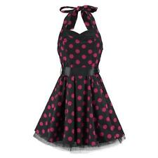 H&R London Minikleid BIG DOTS SHORT DRESS black-pink